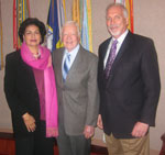 President Carter, Dr. Rich Demillo and Dr. Sue Sehgal